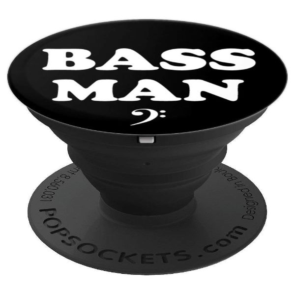 Bass Man Bass Clef - Bassist - PopSockets Grip and Stand for Phones and Tablets