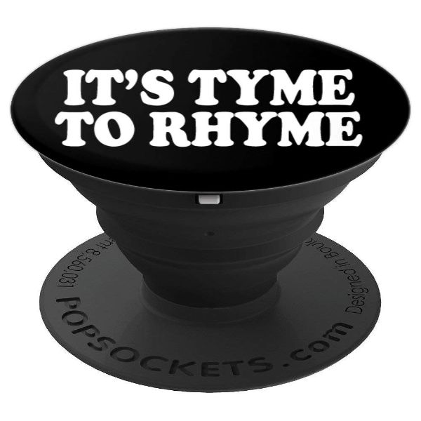 It's Tyme To Rhyme - hip hop poetry and Rap - PopSockets Grip and Stand for Phones and Tablets