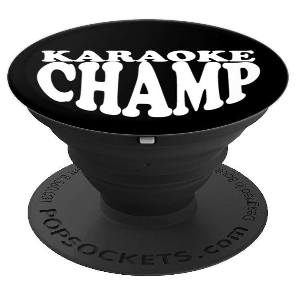 Karaoke Champ - for karaoke vocalist - PopSockets Grip and Stand for Phones and Tablets