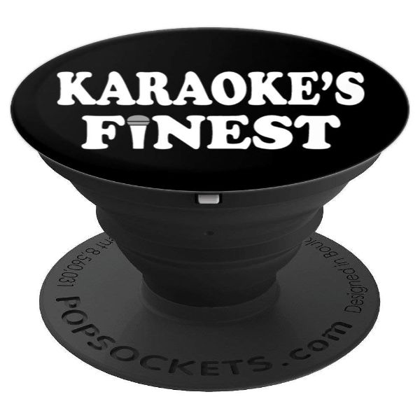 Karaoke's Finest - for karaoke vocalist - PopSockets Grip and Stand for Phones and Tablets