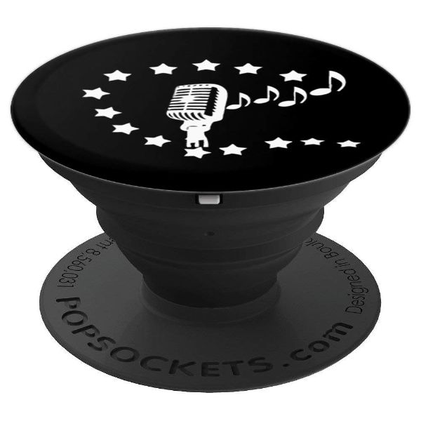 Karaoke Vocalist Microphone for Singer - PopSockets Grip and Stand for Phones and Tablets