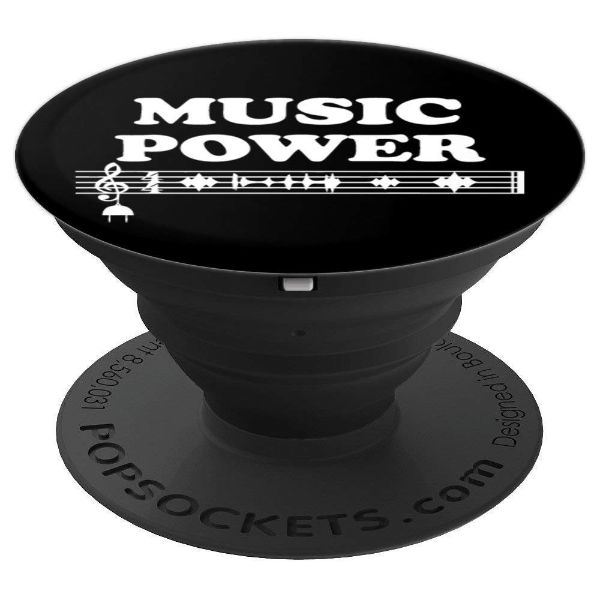 Music Power sound waves music - PopSockets Grip and Stand for Phones and Tablets