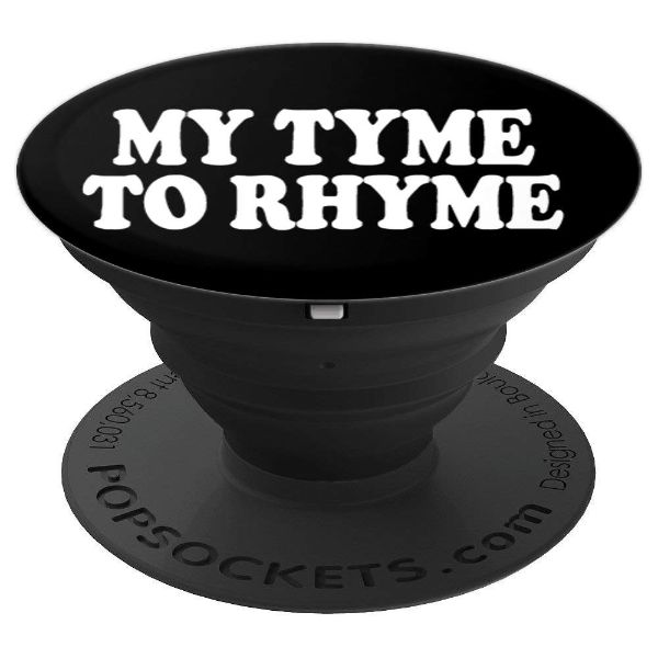 MY Tyme To Rhyme - hip hop poetry and Rap - PopSockets Grip and Stand for Phones and Tablets