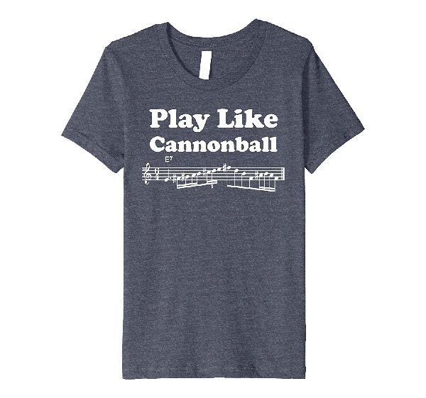 Play Like Cannonball music t-shirt