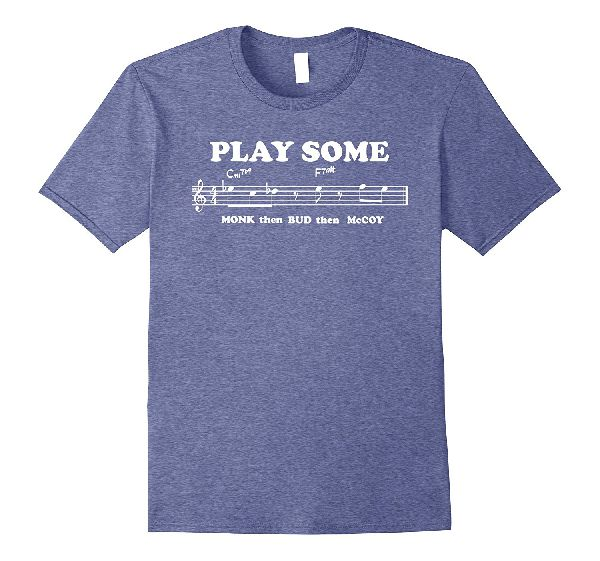 Play Some monk bud mccoy - Musical Notes T-Shirt