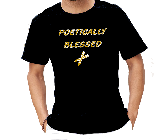 Poetically Blessed Poetry Lyrics T-Shirt