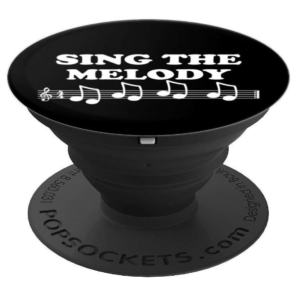 Sing The Melody Music Note Karaoke Singer - PopSockets Grip and Stand for Phones and Tablets