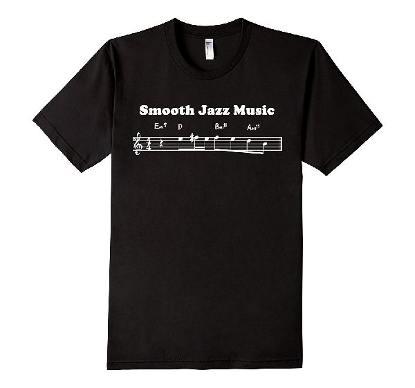 Smooth Jazz Music - Musical Notes T-Shirt