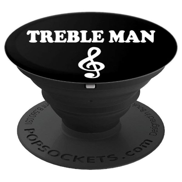 Treble Man Treble Clef - PopSockets Grip and Stand for Phones and Tablets