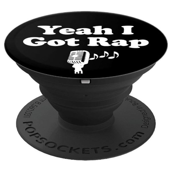 Yeah I Got Rap - hip hop microphone rap - PopSockets Grip and Stand for Phones and Tablets